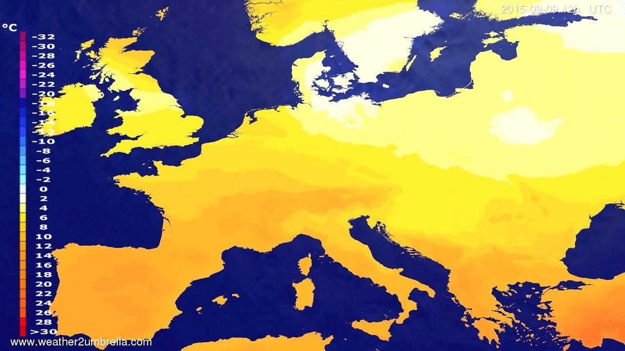 Temperature forecast Europe 2015-09-05