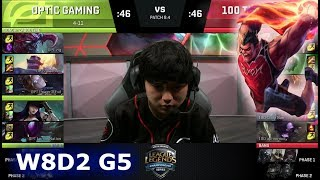 Video OpTic Gaming vs 100 Thieves | Week 8 Day 2 of S8 NA LCS Spring 2018 | OPT vs 100 W8D2 G5 MP3, 3GP, MP4, WEBM, AVI, FLV Juni 2018