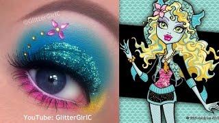 Monster High's Lagoona Blue Makeup Tutorial - YouTube