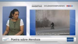 A meteorologista Josélia Pegorim explica o que é o vento Zonda, que voltou a ocorrer forte sobre Mendoza, na Argentina, levantando muita poeira e até ...