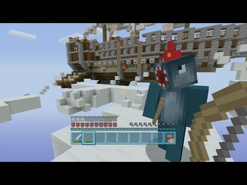 Minecraft Xbox - Air Ship Battle Royal - Squid & Stampy Vs Amy Lee & Finnball