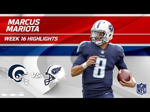 Video: Marcus Mariota Highlights | Rams vs. Titans | NFL Wk 16 Player Highlights