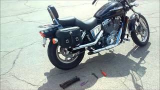 5. Honda Shadow 1100 Cobra Drag Pipes - Baffles vs Straight (SOUND/TONE)