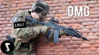 Video SWAT Officer tries Airsoft and DESTROYS Everyone. MP3, 3GP, MP4, WEBM, AVI, FLV Maret 2018