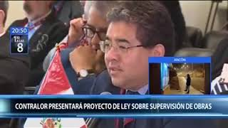 Contralor presentará proyecto de ley que plantea nuevo sistema de supervisión de obras