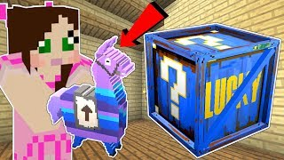 Minecraft: FORTNITE LUCKY BLOCK!!! (VENDING MACHINES, GUNS, & LOOT LLAMAS!) Mod Showcase