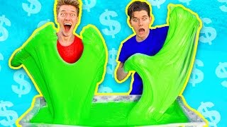 Video $1000 Slime Challenge! MOST EXPENSIVE DIY Giant Fluffy Slime!! MP3, 3GP, MP4, WEBM, AVI, FLV Maret 2018