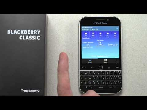 Official BlackBerry Classic Unboxing ...