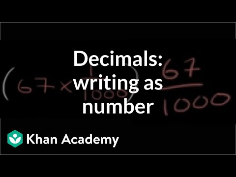 Worked Example Convert Decimal From Expanded Form To Standard Form