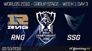 RNG vs SSG - World Championship 2016 - Group Stage Week 1 Day 3
