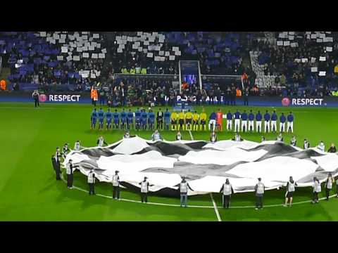 Download Leicester City vs Club Brugge - Champions league - Theme, Forever fearless flag and fans HD Mp4 3GP Video and MP3