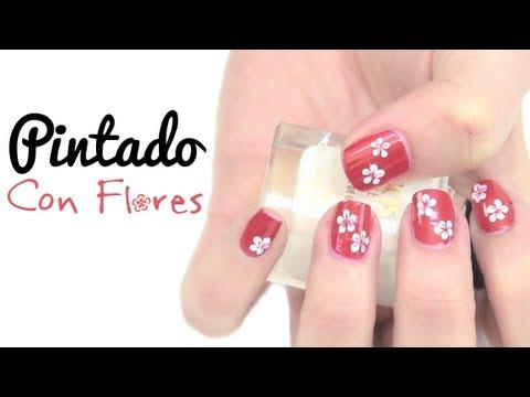 manicure flores - LEEME / DESPLIEGAME ♥ ♥ PINTADO CON FLORES