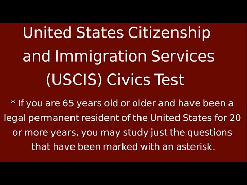 United States - United States Citizenship and Immigration Services (USCIS) Civics Test Complete. These are the 100 possible questions on the USCIS civics test and the correc...