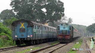 Mayiladuthurai India  city photo : CROSSING - Janshatabdi Superfast Express and Mayiladuthurai Express