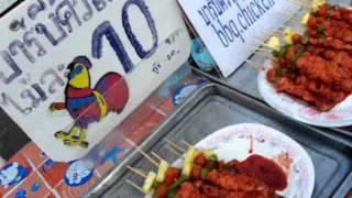 Thai Street Foods At Walking Street Night Markets, Krabi Town, Thailand.