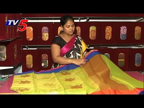 Beautiful Parrot green Assam Kota Saree : TV5 News