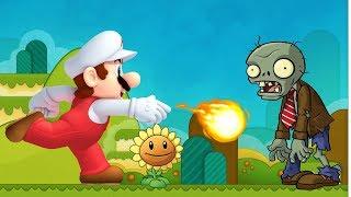 Plants Vs. Zombies Online Games - Episode Mario Shoot Vs Zombies - Mario Games