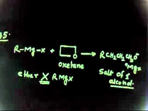 Organische Chemie: Grignard-problem-Grignard-Reagens mit Oxiranring