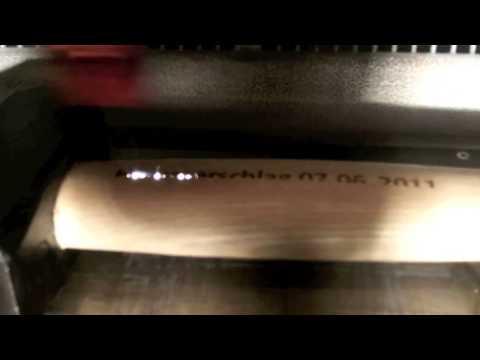 Hammerstiel Lasergravur mit CO2