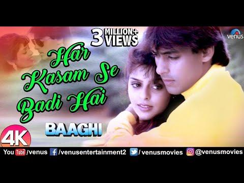 Har Kasam Se Badi Hai - 4K Video | Salman Khan | Kavita Krishnamurthy | Baaghi | 90's Best Love Song