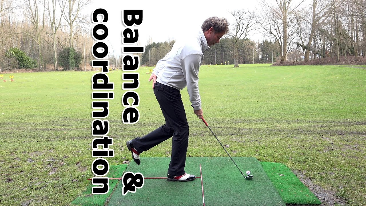 Practice your balance and coordination on the driving range