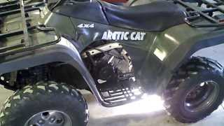 1. LOT 1259A 2004 Arctic Cat 400 4X4 ATV MRP Automatic ACT Straight Axle Running