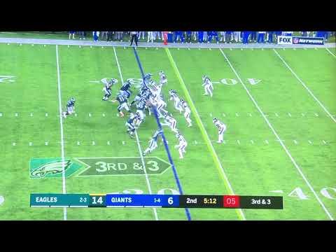 Highlight! Giants Vs Eagles Thursday night football! (10/11/18)