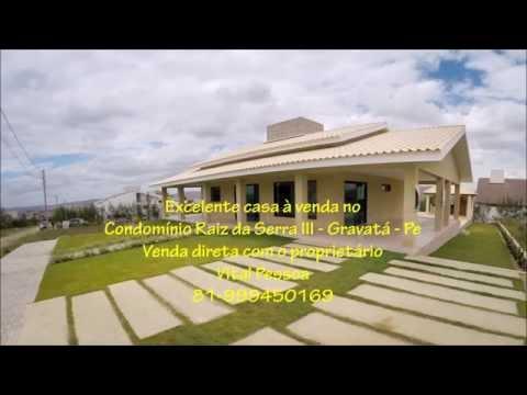 Venda de imóveis - Filmagens com Drone - Casa no Condomínio Raiz da Serra III - Vital Pessoa.