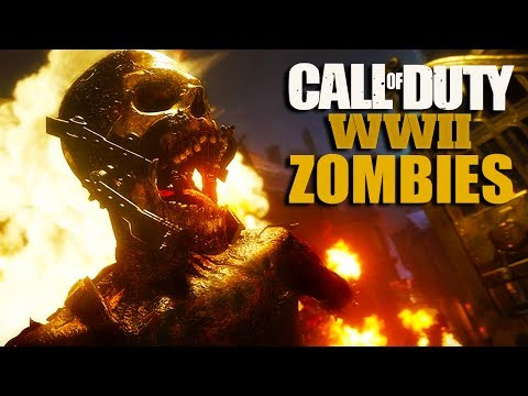 Call Of Duty: WW2 ZOMBIE TRAILER | FULL BREAKDOWN | PERKS, STARTING PISTOL, BOSS? (COD WW2) (видео)