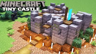 How to build an Awesome TINY CASTLE in Minecraft 1.15 Survival