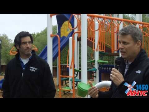 The formal dedication of a new playground at Windmill Island Gardens in Holland, MI on May 11, 2013.