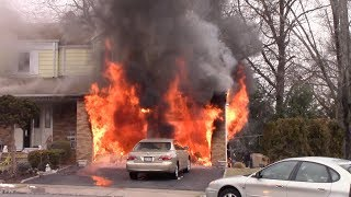 Clifton Fire Department 2nd Alarm Fully Involved Attached Garage Fire Coppola Ct 2-10-18
