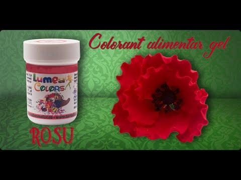 Colorant alimentar gel Lumea Basmelor rosu