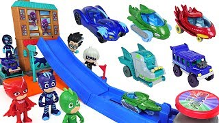 Video PJ Masks! Breathtaking obstacle Jump track die cast playset play with disney cars! - DuDuPopTOY MP3, 3GP, MP4, WEBM, AVI, FLV Maret 2018