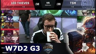 Video 100 Thieves vs TSM | Week 7 Day 2 of S8 NA LCS Spring 2018 | 100 vs TSM W7D2 G3 MP3, 3GP, MP4, WEBM, AVI, FLV Agustus 2018