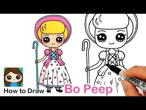How to Draw Bo Peep from Toy Story
