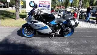 9. 2008 BMW K1200S in Silver and Blue at Euro Cycles of Tampa Bay