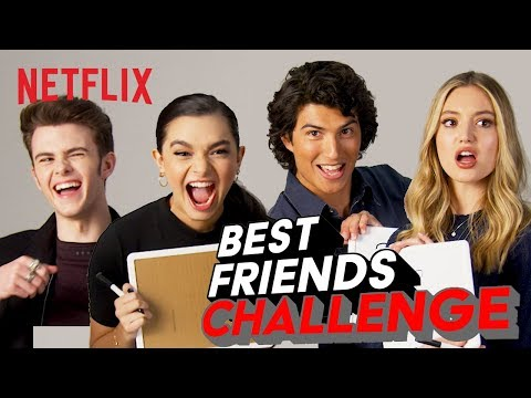 Best Friends Challenge w/ the Ashley Garcia Cast 🤗 Netflix Futures