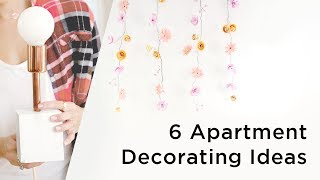 6 awesome apartment decorating ideas perfect for renters and apartment owners!___CONNECT WITH KIN COMMUNITYSubscribe here: http://bit.ly/MKYoureInvitedFacebook: https://www.facebook.com/KinCommunityPinterest: https://www.pinterest.com/kincommunityTwitter: https://twitter.com/kincommunityInstagram: https://instagram.com/kincommunitySnapchat: http://bit.ly/AddKinYour source for new skills, new stuff, and new perspectives related to the most important place in the world, Home. Make your way home with Kin Community.