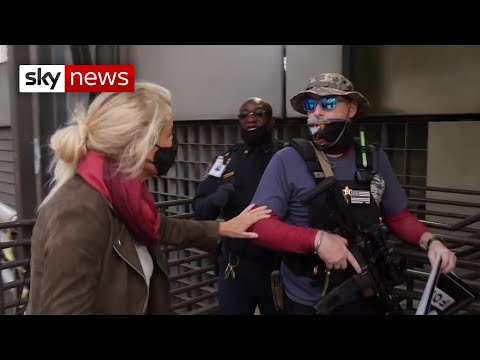 US Election: 'Why are you so heavily armed?!'