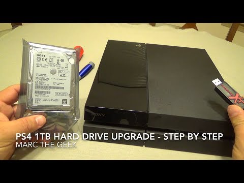 Hard - In this video I show how to upgrade the Playstation 4 hard drive. I will be upgrading from the 500GB 5400rpm hard drive to a 1TB 7200rpm hard drive. The 1TB hard drive cost me $89 on Amazon....