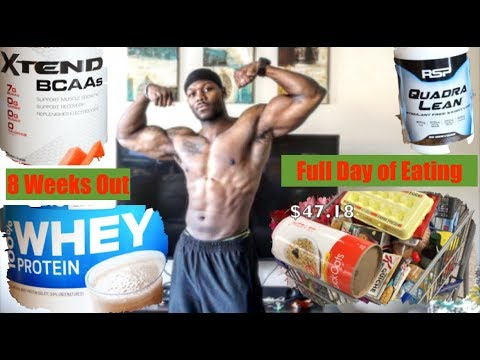 Weight loss pills - 8 WEEK OUTS FULL DAY of EATING - SHREDDING DIET  BEST Supplements for FAT LOSS  Contest Prep Ep.6