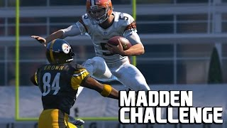 Can Spencer Lanning Kick Antonio Brown In The Head? - Madden NFL Challenge