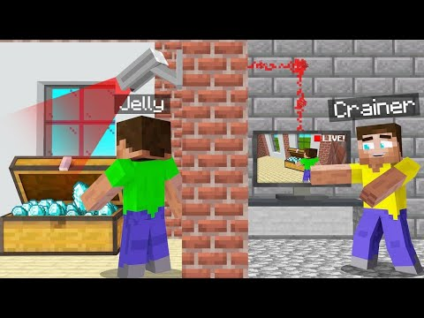 I SPIED On JELLY In MINECRAFT (found his secret chest)
