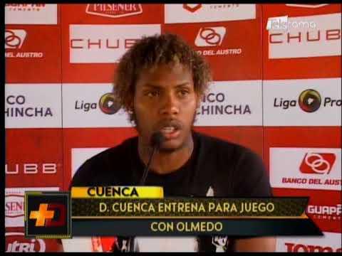 Deportivo Cuenca entrena para juego con Olmedo