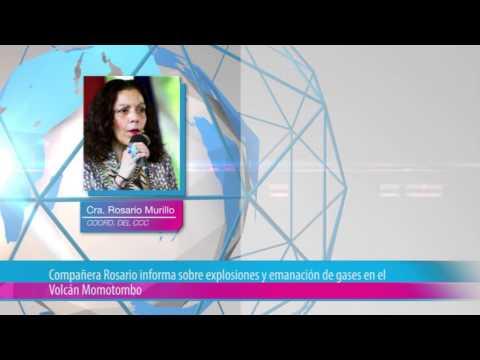 Compañera Rosario informa sobre explosiones y emanación de gases en el Volcán Momotombo