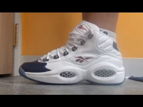 Reebok Pearlized Blue Question Allen Iverson Sneaker Review With @DjDelz