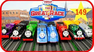 THOMAS AND FRIENDS THE GREAT RACE #149|Trackmaster Streamlined Thomas|Thomas & Friends Toys Trains Video