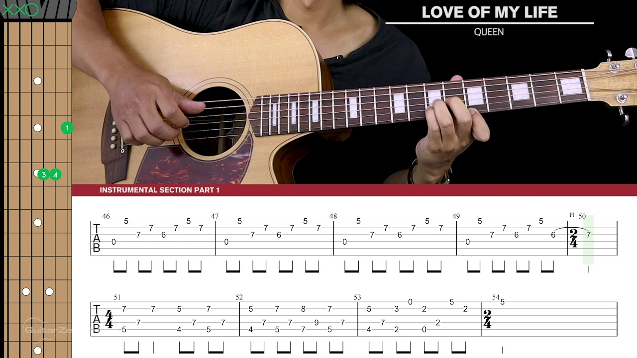 Love Of My Life Guitar Cover Acoustic Fingerpicking – Queen 🎸 |Tabs + Chords|