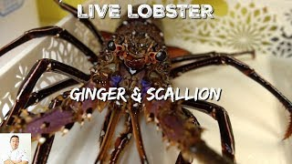 LIVE Lobster Ginger Scallion | Okinawa Street Food by Diaries of a Master Sushi Chef